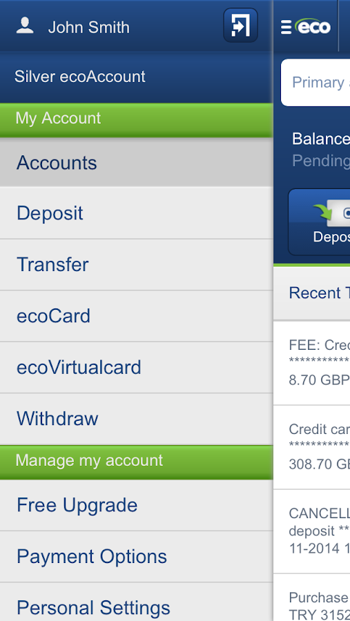ecoAccount- screenshot