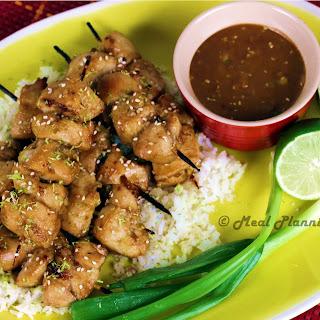 "Chicken ""Satay"" with Tamari-Peanut Dip"