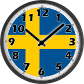 Sweden Flag Analog Clock