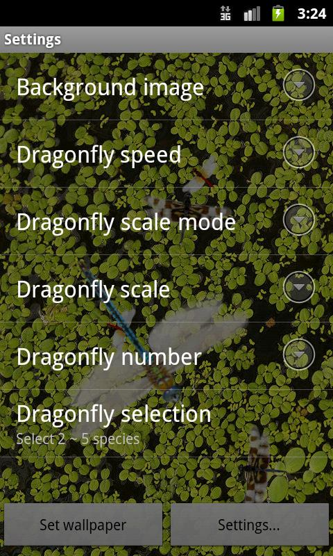 Dragonfly Live Wallpaper - screenshot