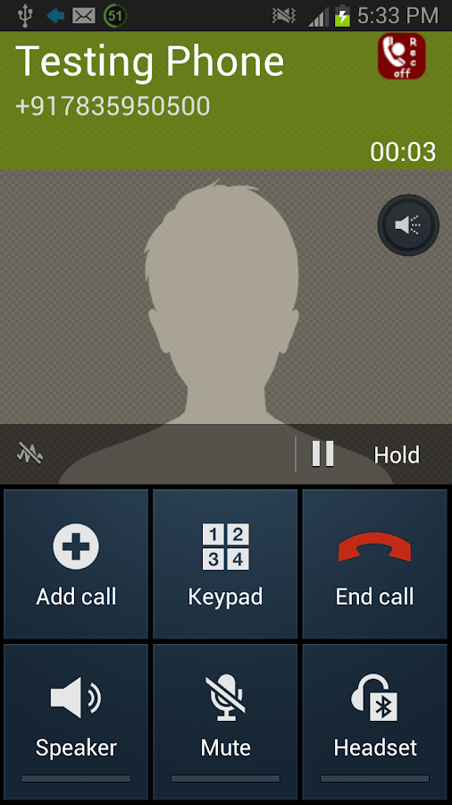 Record A Call - screenshot