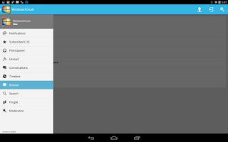 Screenshot of Windows Forums