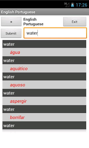 Portuguese English Dictionary
