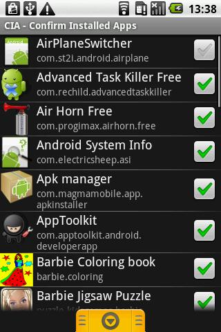 CIA - Confirm Installed Apps - screenshot