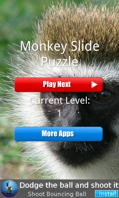 Monkey Slide Puzzle - screenshot