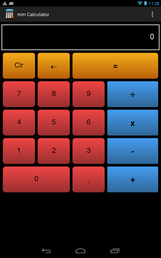 mmCalculator - screenshot