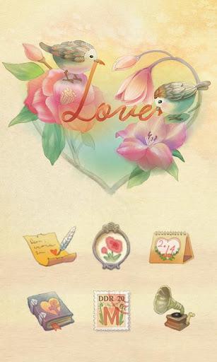 Love Bird GO Launcher Theme