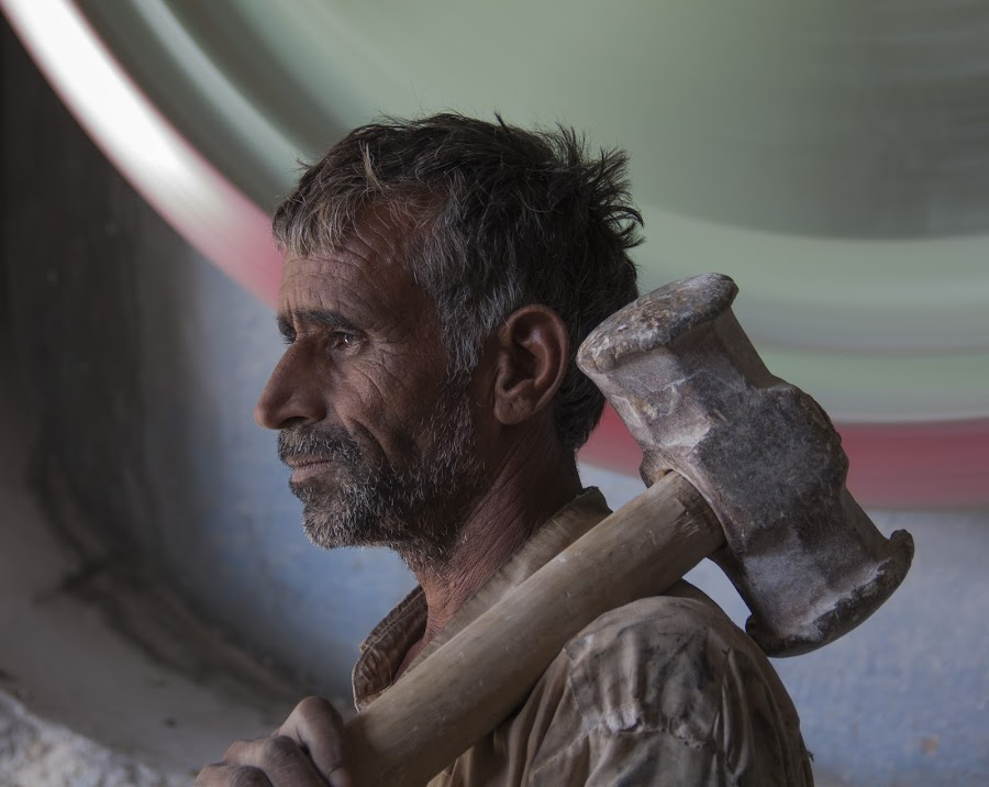Dusty Worker by Janet Marsh - People Professional People ( marble, indiapart1, man,  )