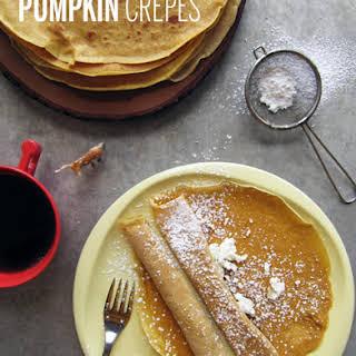 Pumpkin Crepes.