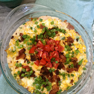 Cheesy Corn Bean and Bacon Dip
