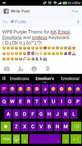Purple Emoji Keyboard