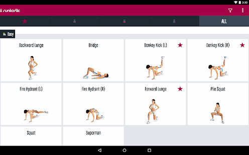 Runtastic Butt Trainer Workout - screenshot