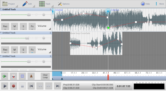 MixPad Multitrack Mixer Free Screenshot