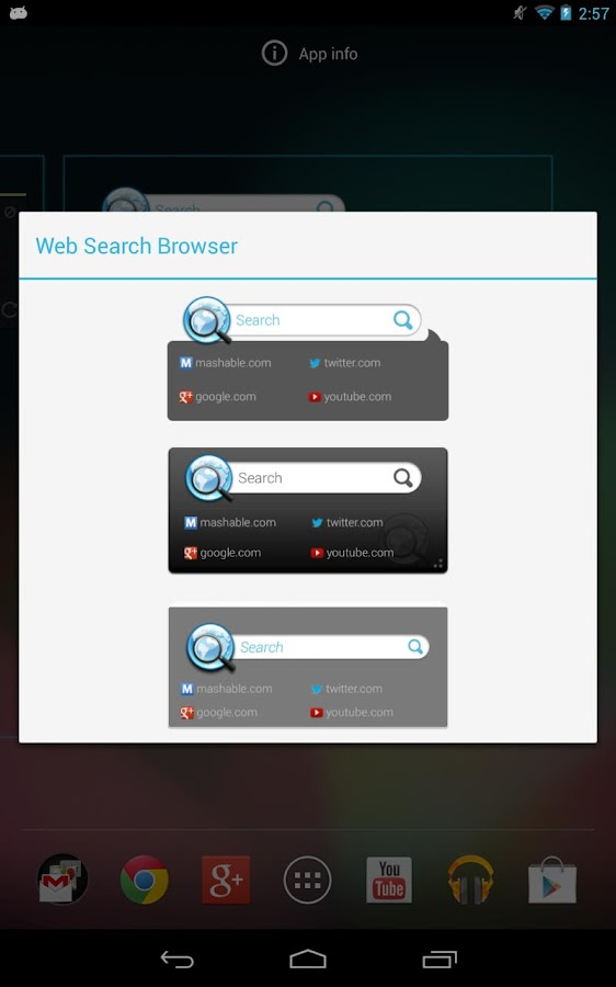 Web Search Browser- screenshot