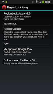 [root] RegionLock Away
