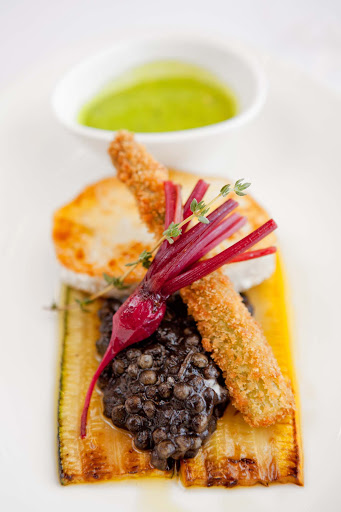 Culinary-Experiences-Appetizer - Colorful appetizers will whet your appetite on a Crystal cruise.