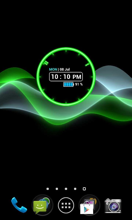 Neon Clock Widget - screenshot