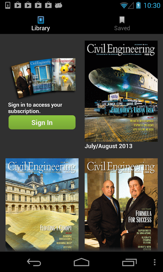 Civil Engineering Magazine - screenshot