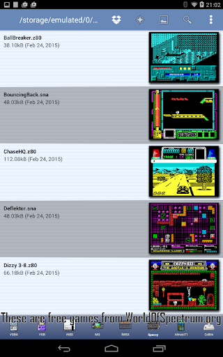 Speccy - ZX Spectrum Emulator  screenshots 2