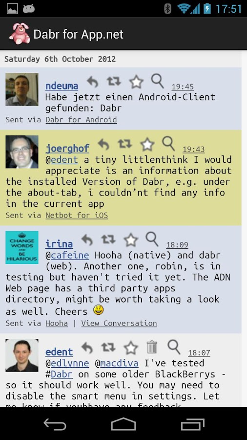 Dabr for App.net (BETA) - screenshot