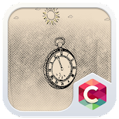 Drawn Clock C Launcher Theme