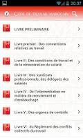 Screenshot of Code de Travail Marocain