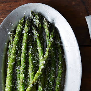Asparagus with Spring Garlic Pesto.