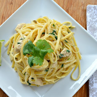 Jalapeno Lime Chicken Alfredo With Cilantro
