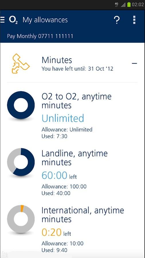 My O2 - screenshot