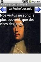 Screenshot of maximes de la Rochefoucauld