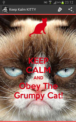 Keep Calm KITTY - screenshot