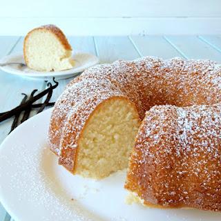 Gluten Free Vanilla Bundt Cake.