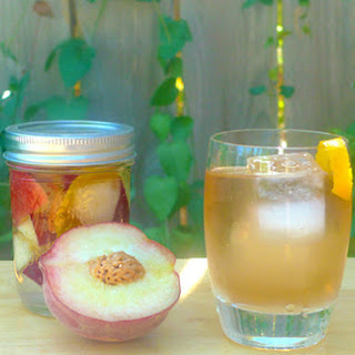 DIY Peach Liqueur.