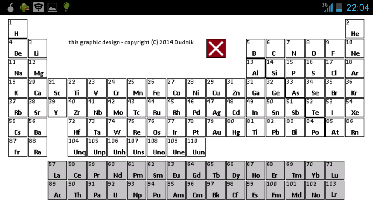 Periodic table basic android apps on google play periodic table basic screenshot gamestrikefo Choice Image