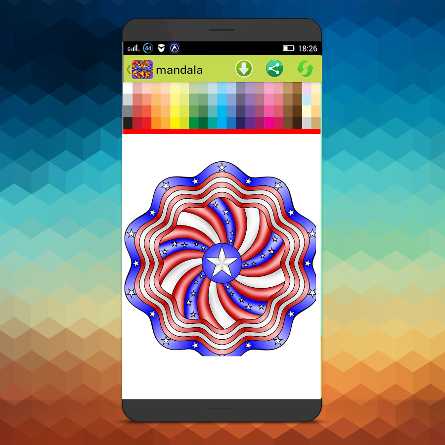 Coloring pages for adults laptop app - Mandala Coloring Pages Screenshot