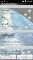 Screenshot of Flying Droid Live Wallpaper