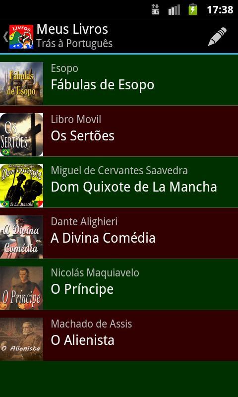 Livros em Português - screenshot