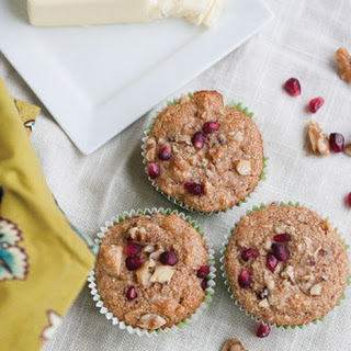 Pomegranate, Walnut & Apple Muffins.