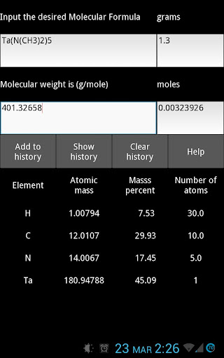 ExN Molecular Weight Calc Free