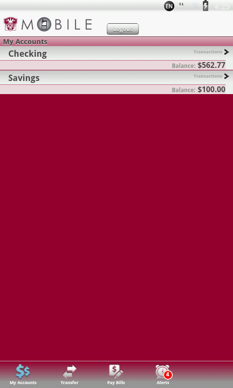 FSCB Mobile Banking - screenshot