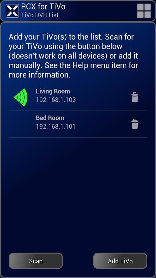 RCX for TiVo (free)- screenshot