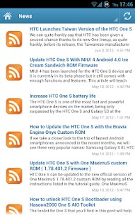 HTC One S News - screenshot thumbnail