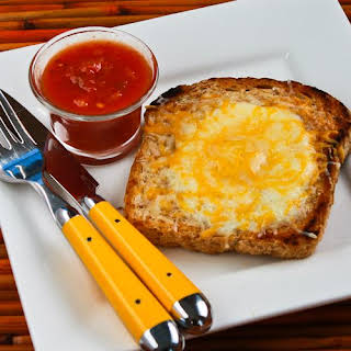 Pop-Eye Eggs with Cheese and Salsa.