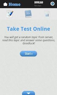 English Reading Test Screenshot