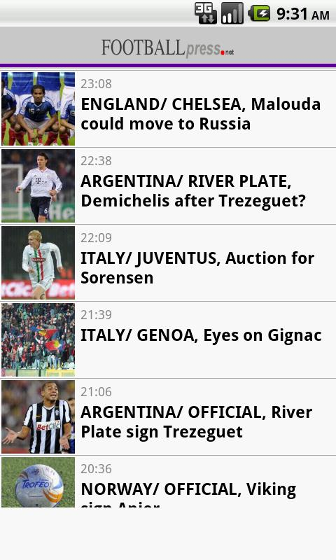 Football Press - screenshot