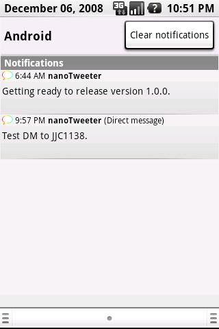 nanoTweeter- screenshot