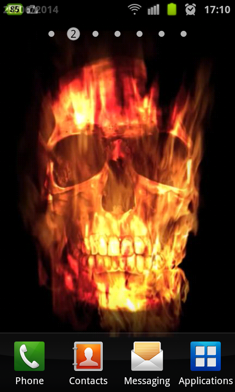 Skull Of Fire Live Wallpaper - screenshot