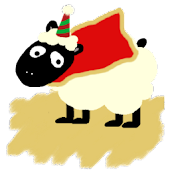 Christmas Sheep Battery Widget