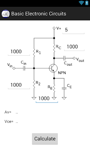 Basic Electronic Circuits Calc