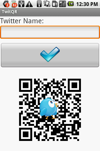 TwitQR - screenshot
